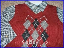 Great Guy Baby Boys Argyle 3pc Vest Set Size 18 Months 18M NWT Dress Clothes