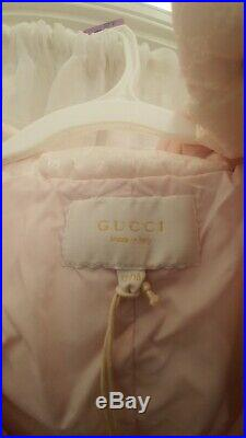 Gucci baby girls pink snowsuit 12/18m