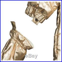 Gymboree Baby Girl Infant Clothes Gold Newborn 0-3 Snowsuit Mittens Shoes Hood