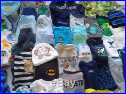 HUGE 60 Pc Baby Boy Newborn sz NB FALL WINTER Outfits 0-3 clothes lot stain free