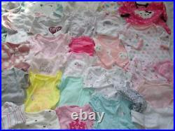 HUGE 60 pc Baby Girl Newborn, 0-3 3 mo Fall Winter Clothes Bodysuits Lot