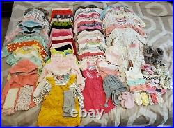 HUGE LOT 3-6 Month Baby Girl Clothes 98 peices, everything included
