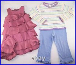 HUGE LOT Girls Baby Clothes 2T 3T dresses t shirts pants Boutique Name Brand