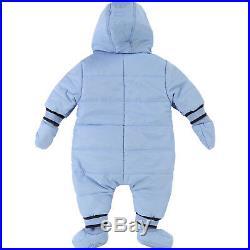 HUGO BOSS Baby Scheeanzug gesteppt gefüttert Winter Overall hellblau 6M 9M 12M