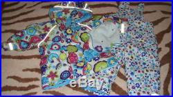 Hanna Andersson 80 Floral Coat Snowpants Hat Lot