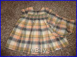 High End Bonpoint 12m 12 Months Plaid Smocked Dress Bloomer Set