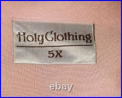 Holy Clothing Top 5X New Baby Pink Trinity Boho Hippie Lace Up Peasant Shirt