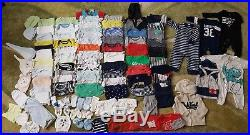 Huge 121pc Baby Boys Clothing Lot 0-6 Month Newborn Carter's, PUMA, Adidas