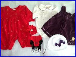 Huge 37+ pc Fall & Winter Girls Baby Clothes 0-3 mo Childrens Place Carters GAP