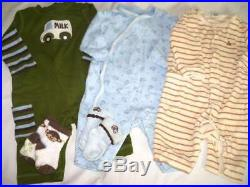Huge 40 pc Fall Winter Boys Baby Clothes 0-6 mo Lot Childrens Place Carters ON