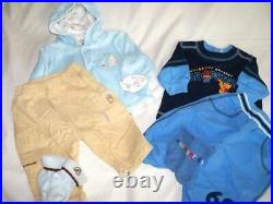 Huge 40 pc Fall Winter Boys Baby Clothes Lot 0-6 mo Childrens Place Carters ON