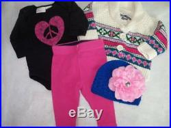 Huge 40 pc Fall & Winter Girls Baby Clothes 0-3 mo Childrens Place Carters GAP