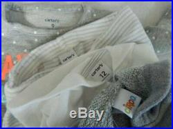 Huge 52 pc Fall Winter Girls Baby Clothes 6-12 mo Carters Childrens Place GAP