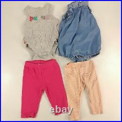 Huge Lot Baby Girls Clothing Size NB 0-6 Months Infant Clothes Outfits + Bonuses