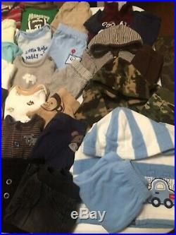 Huge lot 118pc Baby Boys fall/ winter clothes sz NB & 0-3 months Name brand