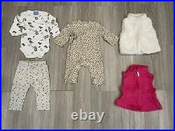 Huge lot of Baby Girl Clothes for Size 3-6 month old. Total 65 pcs. Fall, winter