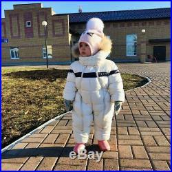 IYEAL Newest Winter Children Baby Clothes Hooded Natural Fur Thicken Warm Romper