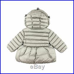 Il gufo Baby Girl Daunen Jacke grau Mantel mit Kapuze Winterjacke NP 210,00