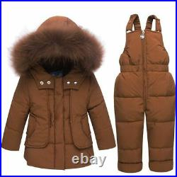 Infant Winter Clothing Baby Snowsuit Hoodies Duck Down Toddler Outfits Coats