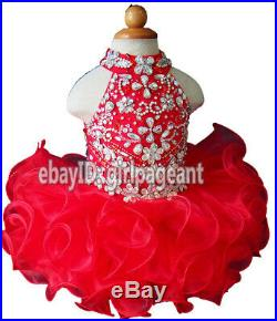 Infant/toddler/baby Beaded Crystals Pageant Glitz Dress 1824 Months G284-4