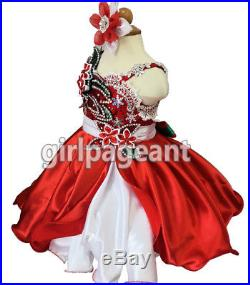 Infant/toddler/baby/Girl Stunning Lace Bow Pageant Glitz Dress G221A