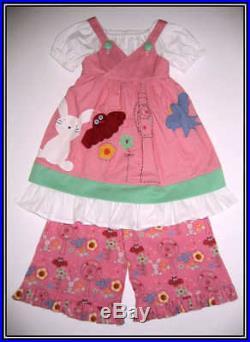 Ivylane Boutique Resell Woodland Owl Bunny DressRuffles 4pcSet 3 4 FREE US SHIP
