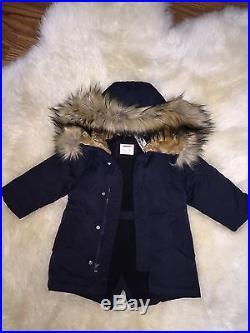 f98dc5fbf77c9 J. Crew Crewcuts  168 Boys Fishtail Parka jacket coat NWT 2 Vintage Navy  E0766