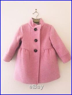 J. Crew Crewcuts Toddler Girls Pink Wool Marquee Winter Coat, 2T