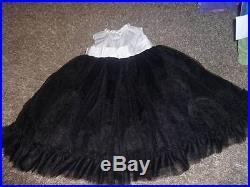 Janie And Jack 2t Black Ivory Silk Dress'12 2012
