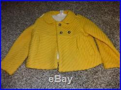 Janie And Jack Sz 2t-3t Winter Whimsy Jacket Coat Yellow