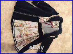 Jottum Rembrandt Prussian Blue Velvet Bellini Coat, Rembrandt Dress & Tights