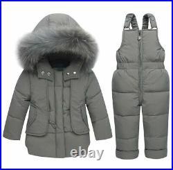 Kids Winter Snowsuit Baby Jacket Duck Down Outdoor Infant Clothes Jumpsuit Coat