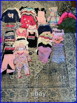 LOT 100 Pieces 3T/2T BABY/TODDLER GIRL CLOTHES CARTER'S CAT AND JACK GAP ESME