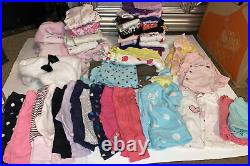 Large Lot 60 Pieces Newborn Baby Girls Clothes Fall Winter Holiday Carters Cute