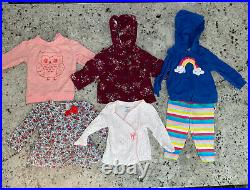 Large Lot Of 32 Pieces 9 Month Baby Girl Winter Clothes Lot