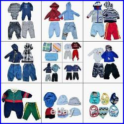 Lot 39 Baby Boys Warm Winter Fall Clothing Bundle Infant Size NB 0 3 6 Month