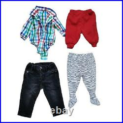 Lot 49 Baby Boys Warm Winter Fall Clothing Bundle Infant Size 0-6 Months Bonuses