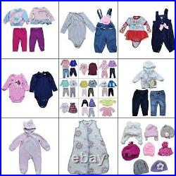 Lot 60 Girls Winter Clothing Bundle Size 6 12 months Baby Warm Tops Pants