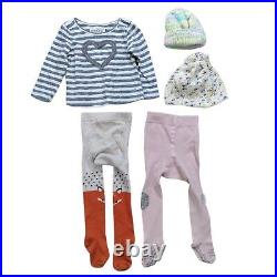 Lot 67 Girls Winter Clothing Bundle Size 6 12 months Baby Warm Tops Pants