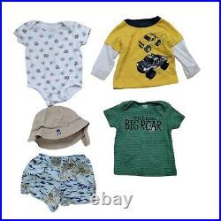 Lot 77 Baby Boys Clothing Bundle Infant Size 6-12 Months Bulk Wholesale Outfits