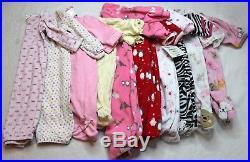 Lot 81 Piece Girls Fall Winter Spring Clothes Size Newborn 0-3 Months Carters