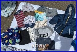 Lot Of 120 Plus Items Baby Boy Clothing EUC woodland, animal, boy theme