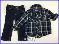 Lot Of Baby Boys Winter Clothes, Size 12 Months. Pajamas, Hoodie, Jeans, Shirts
