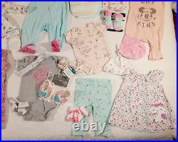 Lot of 12 Baby Girl Clothes Size 0-3 Months In Excellent Condition