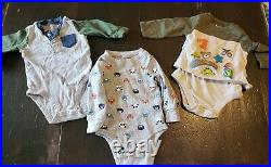 Lot of 29 6-9 Month Fall & winter Baby Boy clothes bodysuits, pants, suspenders