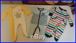 Lot of 34 BABY BOY CLOTHES Size 6 12 Months Football Shirts Pants Sleepers GMU