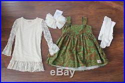 Lot of 4 Persnickety Girls Jeweled Forest Olivia Jumper Lace Top Cuffs Size 3