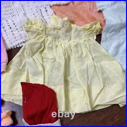 Lot of Vintage Infant Baby Clothes 0-12 Mixed Lot Dresses Rompers Slippers NICE
