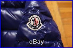 MONCLER Aubert Baby Boy's Navy Blue Down Jacket Coat Puffer Size 3-6 Months