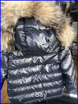 MONCLER Baby Boy Toddler Navy Fur Collar Puffer Warm Coat Jacket 18 24 Mon